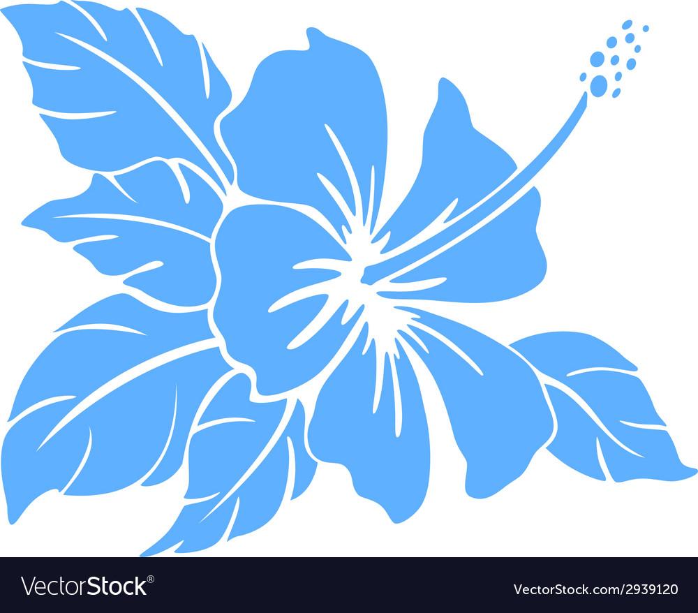 Hibiscus flower Silhouette.