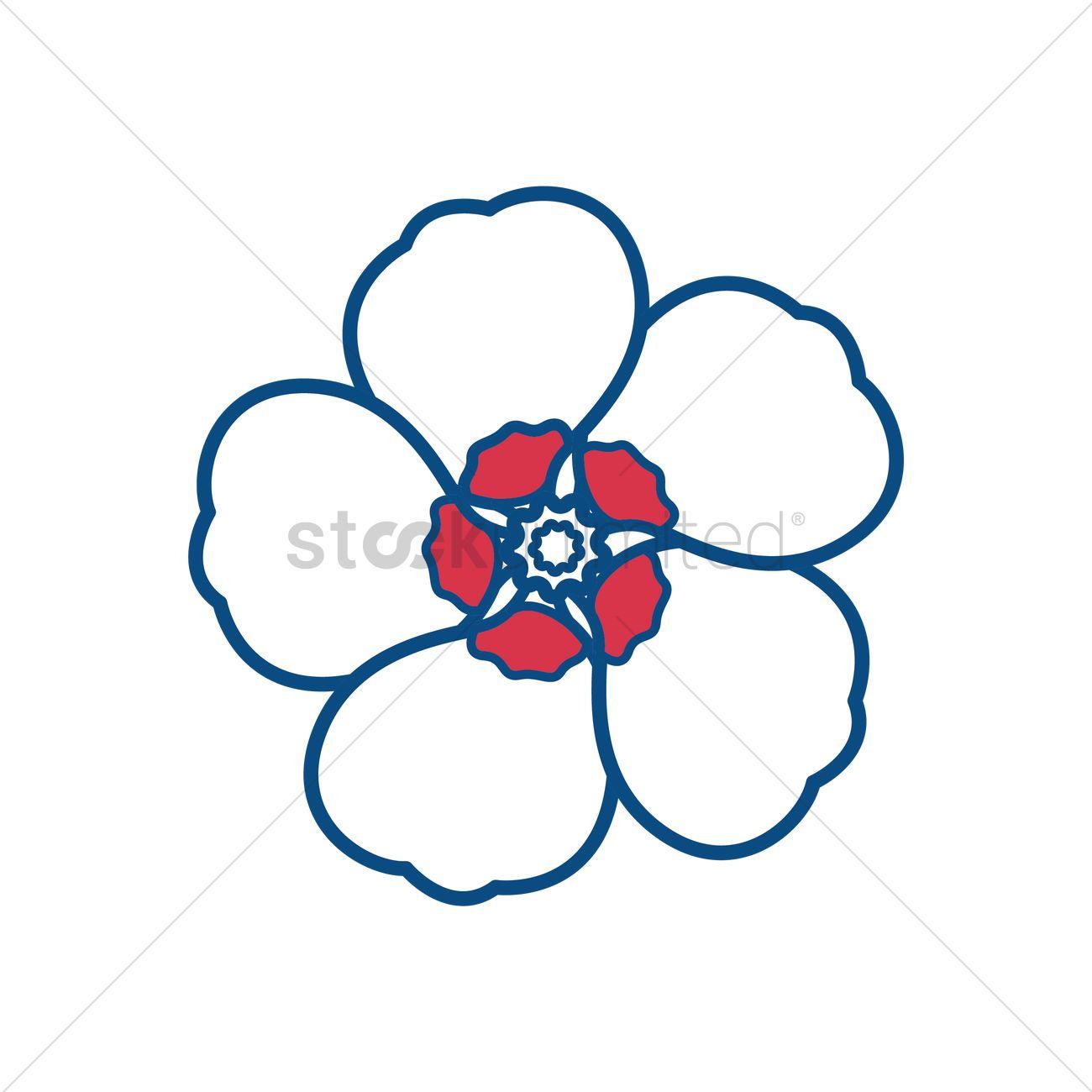 Free Hibiscus syriacus Vector Image.