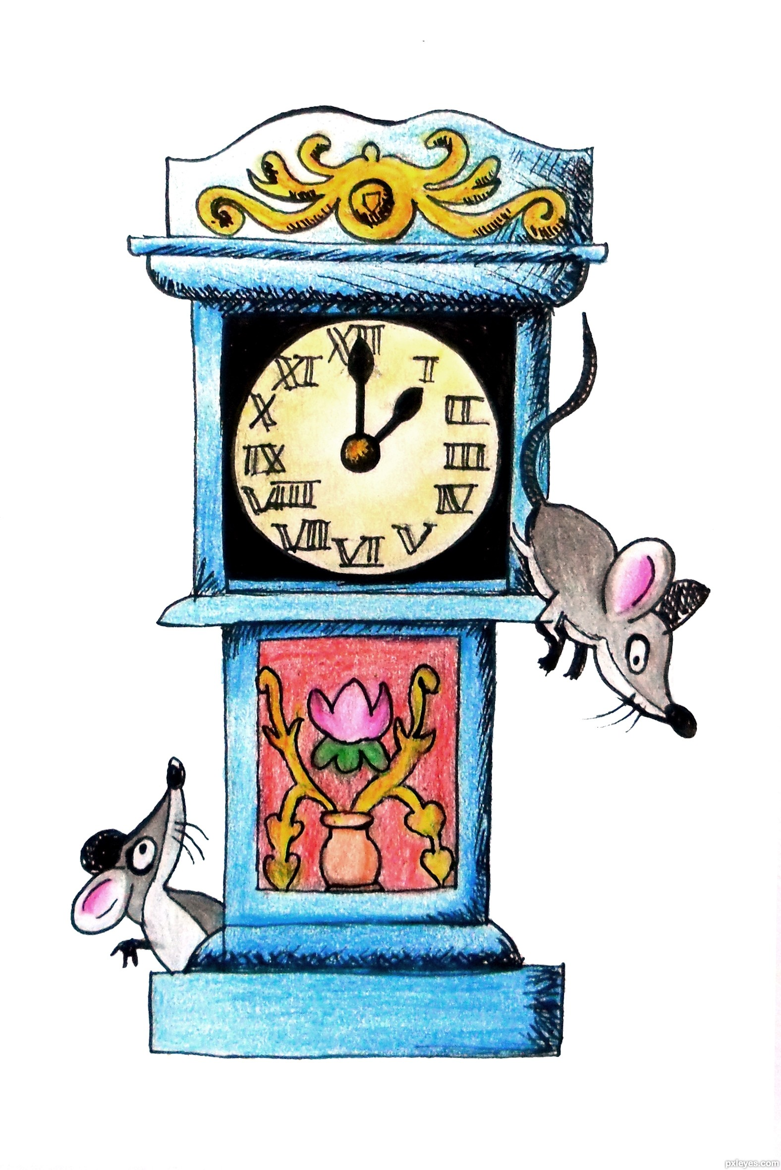 Hickory Dickory Dock picture, by loriann88 for: nursery.