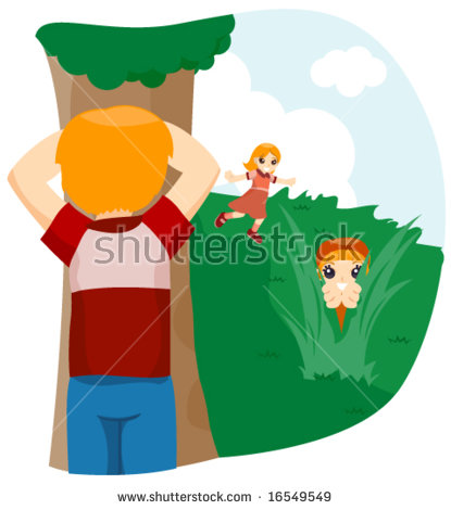 Playing Hide And Seek Stock Vectors, Images & Vector Art.