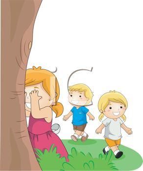 Kids Playing Hide and Seek.