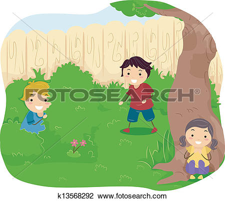 Hide seek Clip Art Royalty Free. 154 hide seek clipart vector EPS.