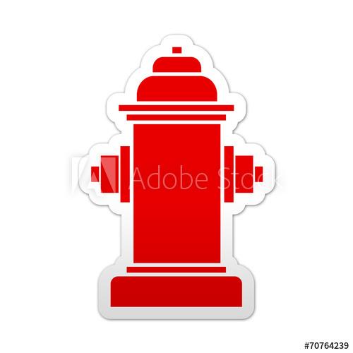Pegatina simbolo rojo hidrante.