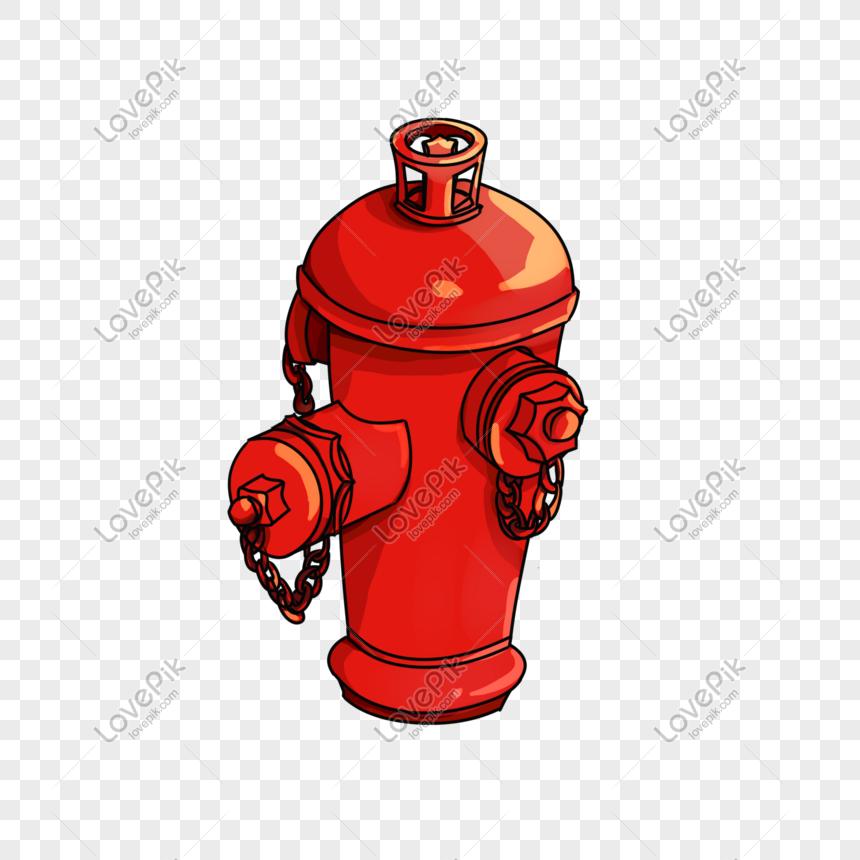 dibujado a mano dibujos animados ilustración hidrante Imagen.