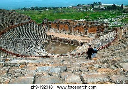 Stock Photography of Theater, Antique city of Hierapolis.