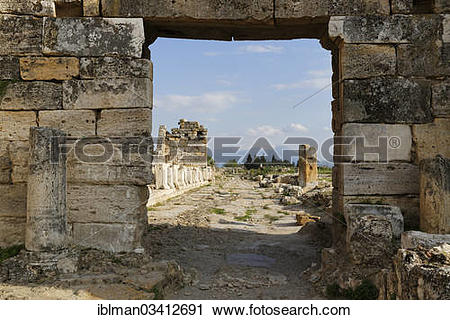 """Stock Photography of """"Byzantine Gate and arcades, ancient city of."""