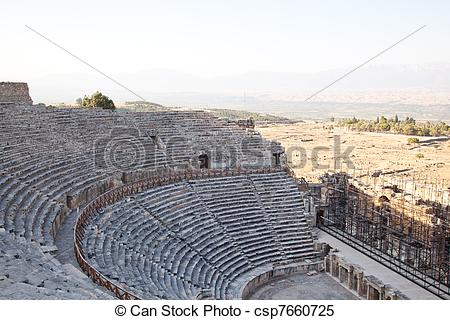 Stock Images of Ancient ruins Hierapolis. Turkey.