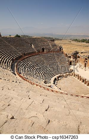 Stock Image of Outdoor Theater at Hierapolis Turkey.