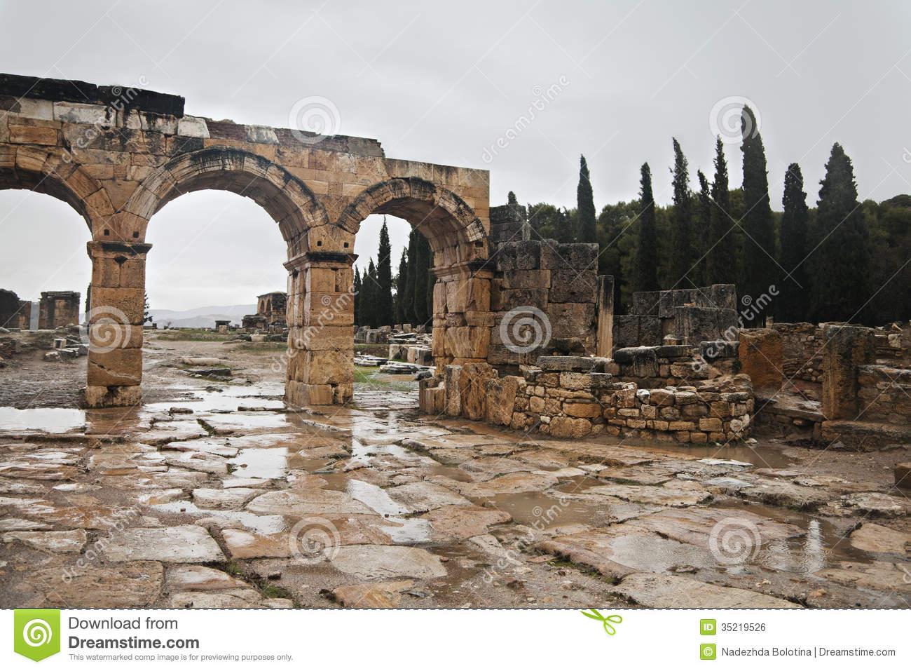 Ancient Ruin In Hierapolis, Turkey Royalty Free Stock Image.