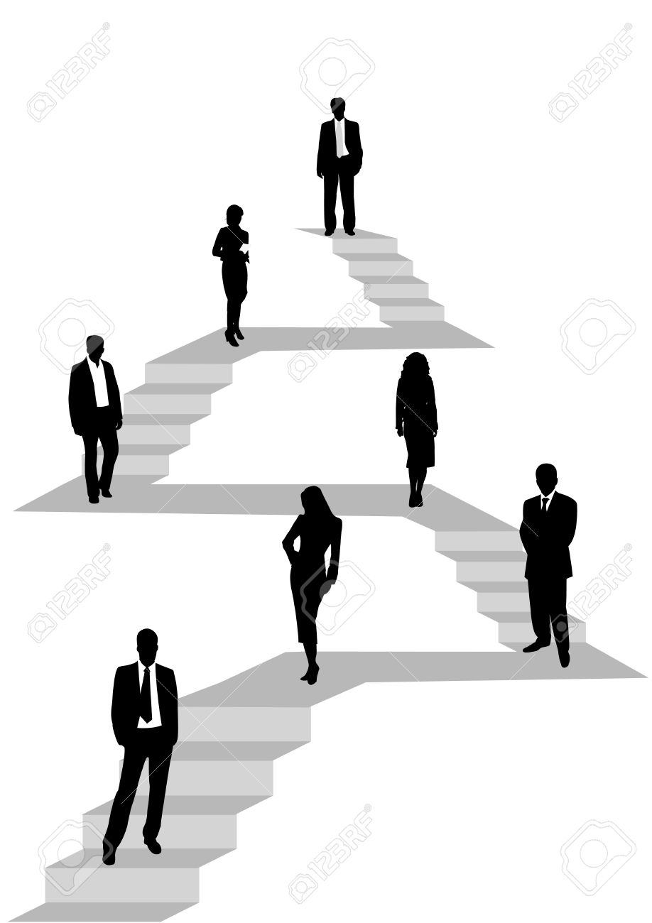 Illustration Of Business People Hierarchy Royalty Free Cliparts.