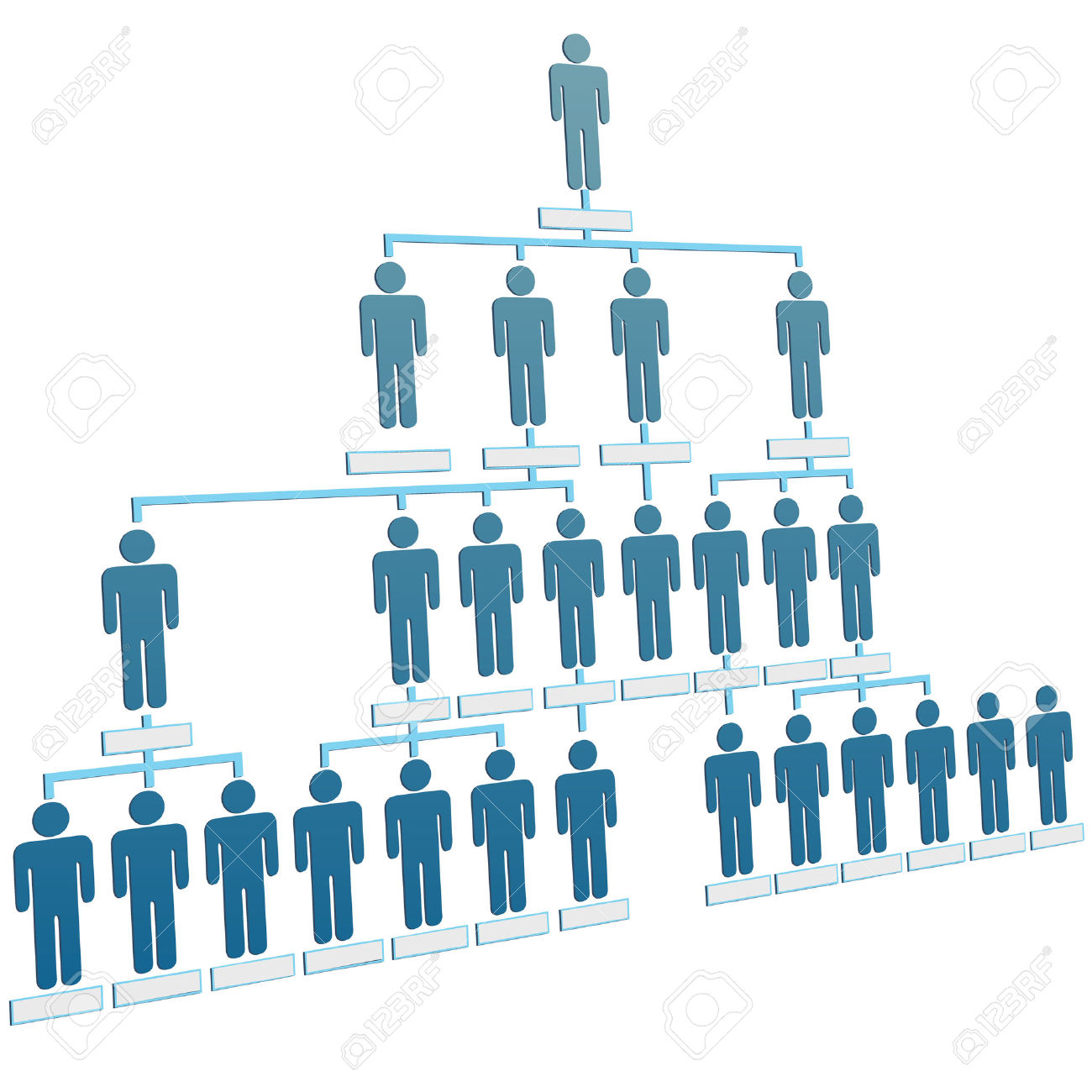 Company structure clipart.