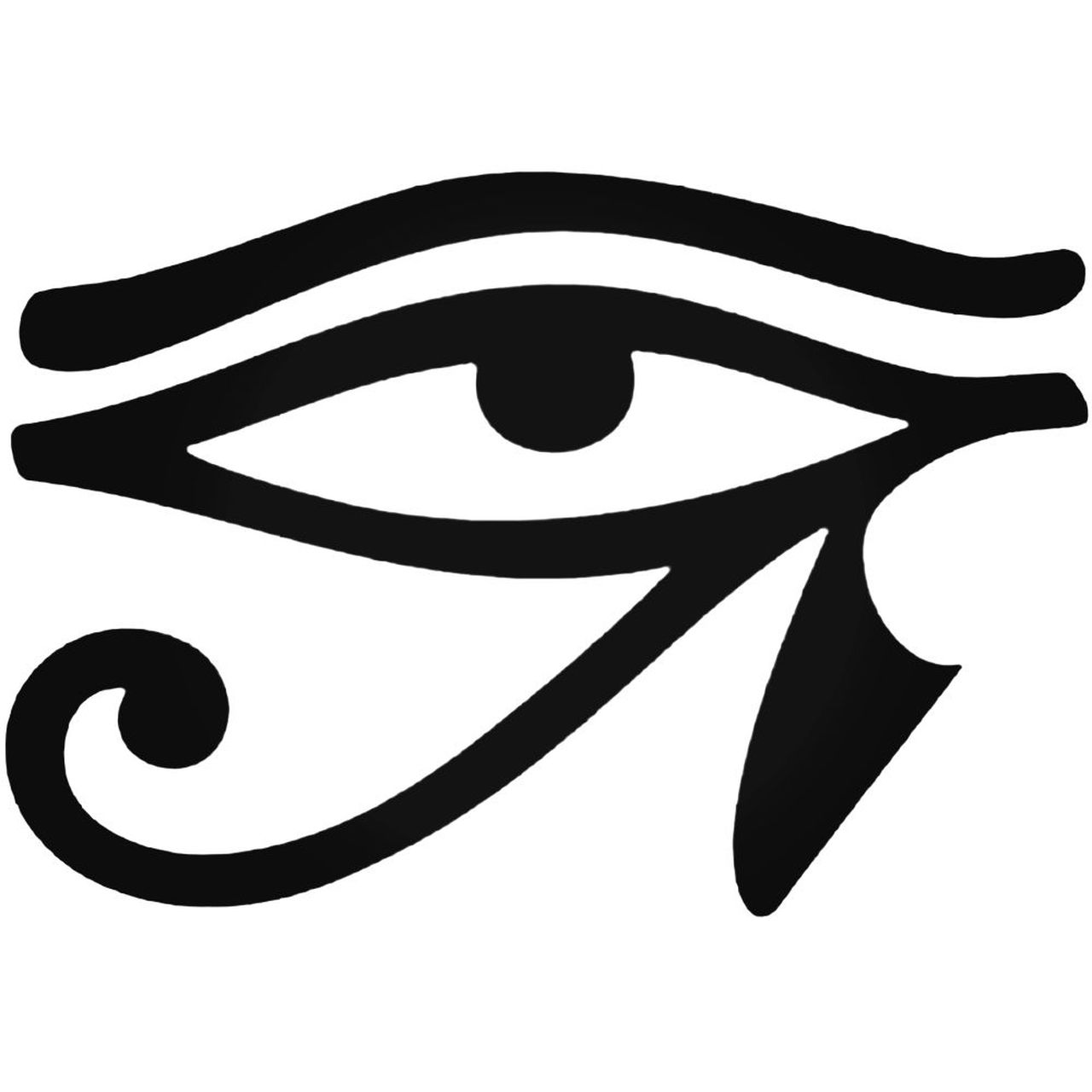 Egyptian Hieroglyphic Eye Of Horus Decal Sticker.
