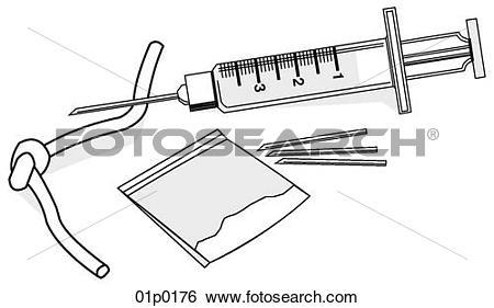 Clip Art of heroin 01p0176.