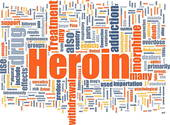 Clipart of Heroin word cloud k2901961.