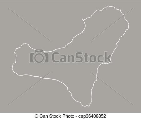 Clipart Vector of Map of El Hierro csp36408852.