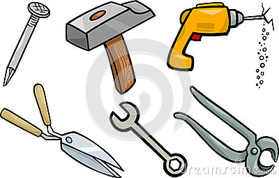 Hammer Clip Art Cartoon Illustration Royalty Free Stock Images.