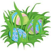 Stock Illustration of Hidden easter eggs k0228626.