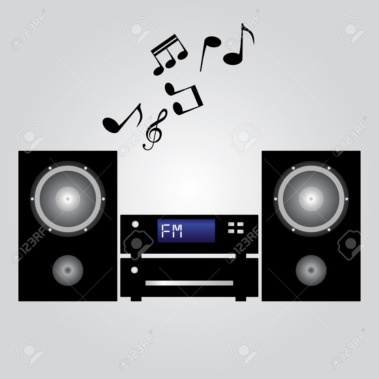 Hifi System Eps10 Royalty Free Cliparts, Vectors, And Stock.