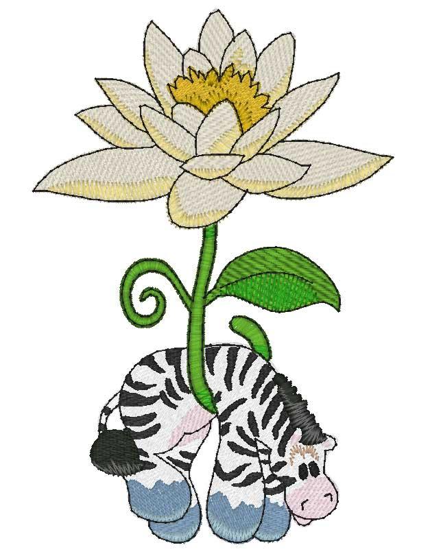 Mylar Hanging in Flowers —.