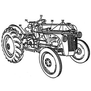 Entire Tractor Rebuild Kit All Necessary Parts to Restore Ford 8N.
