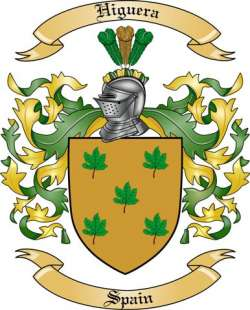 Higuera Family Crest from Spain by The Tree Maker.