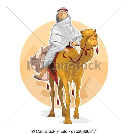 Vector Illustration of Camel riders silhouettes.