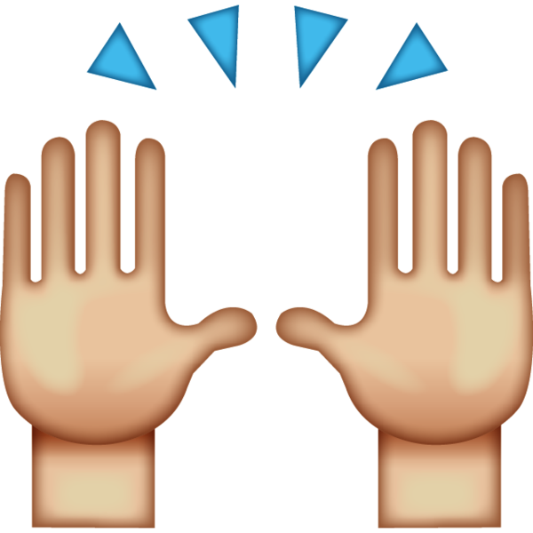 Collection of High five clipart.