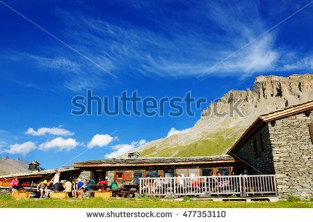 Alpin Hut Stock Photos, Royalty.