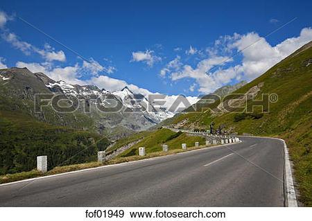 Stock Photograph of Austria, Mount Grossglockner, Grossglockner.