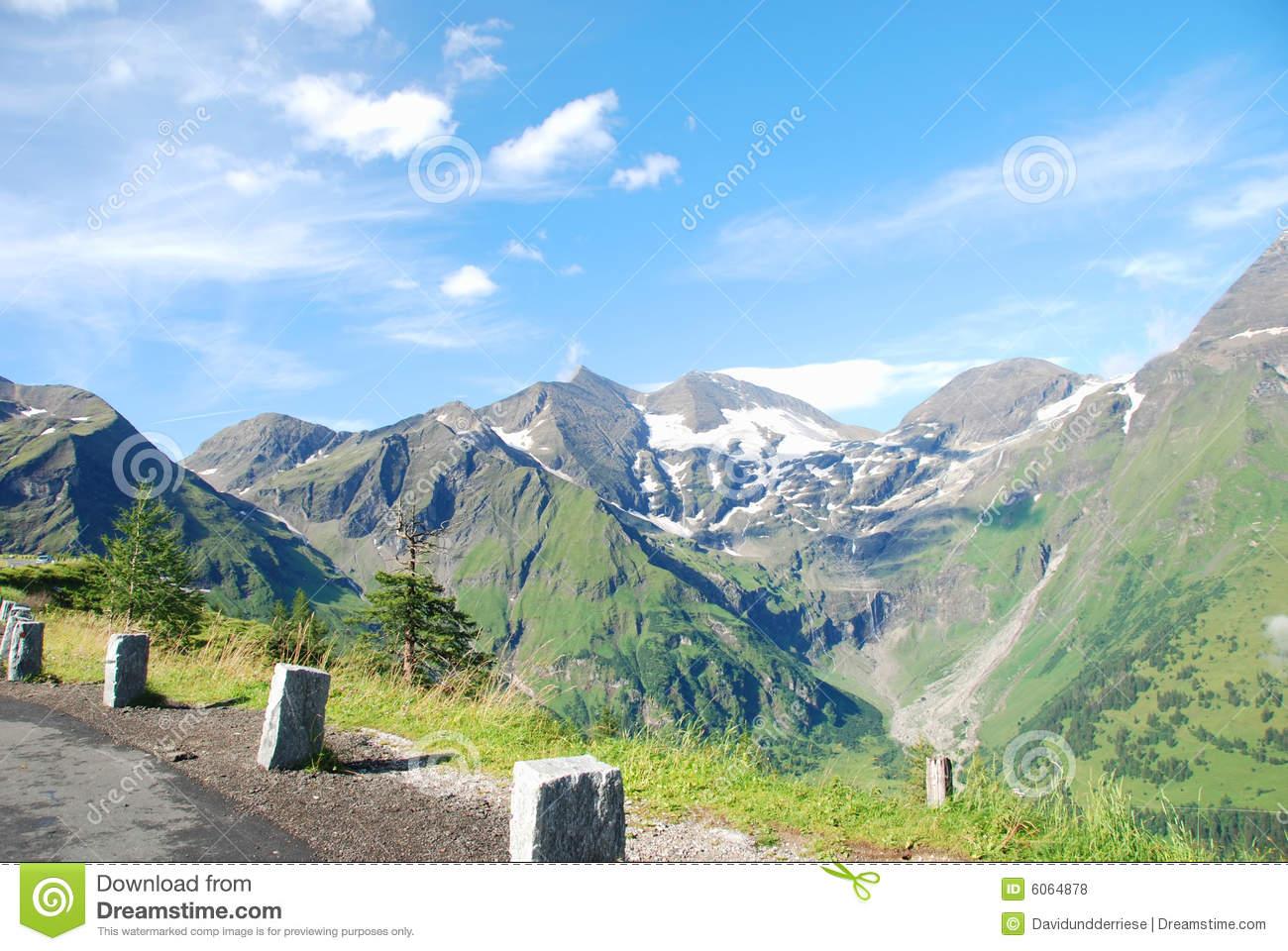 Grossglockner High Alpine Road. Royalty Free Stock Photos.