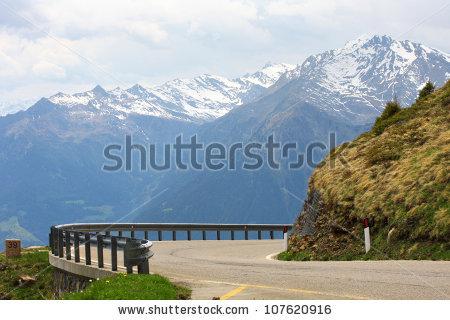 High Alpine Road Stock Photos, Royalty.