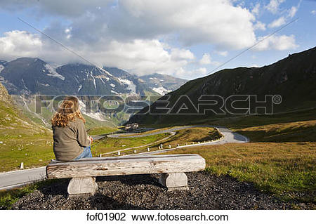 Stock Photo of Austria, Grossglockner, View of the Alps from the.
