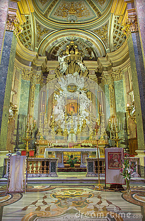 Baroque High Altar Royalty Free Stock Images.