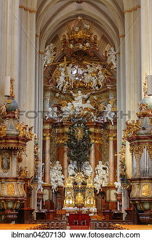 Stock Photography of High Altar in the Collegiate Church, Stift.