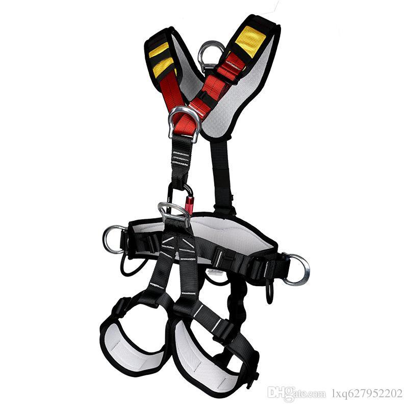 Good Full Body Professional Rescue Seat Harness Rock Climbing Fall.