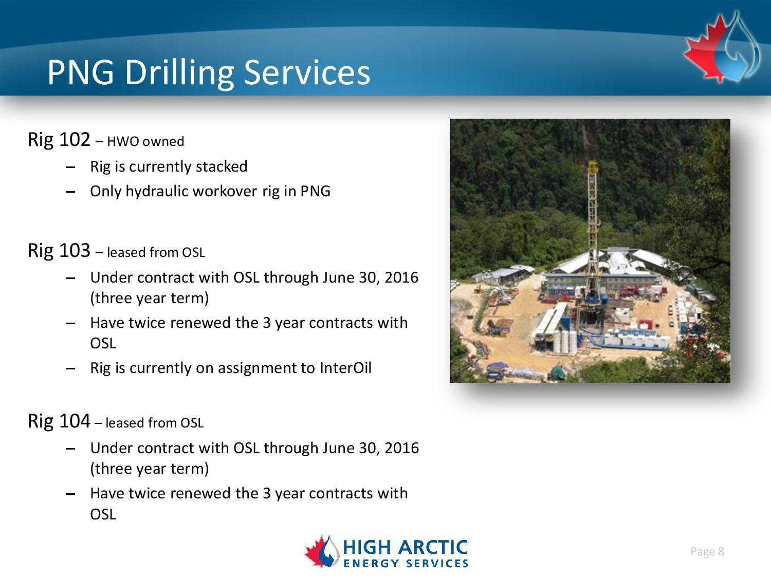 Sell Key Energy Services And Buy High Arctic Energy Services.