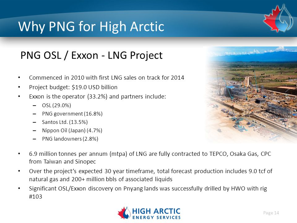 High Arctic Energy Services Corporate Presentation.