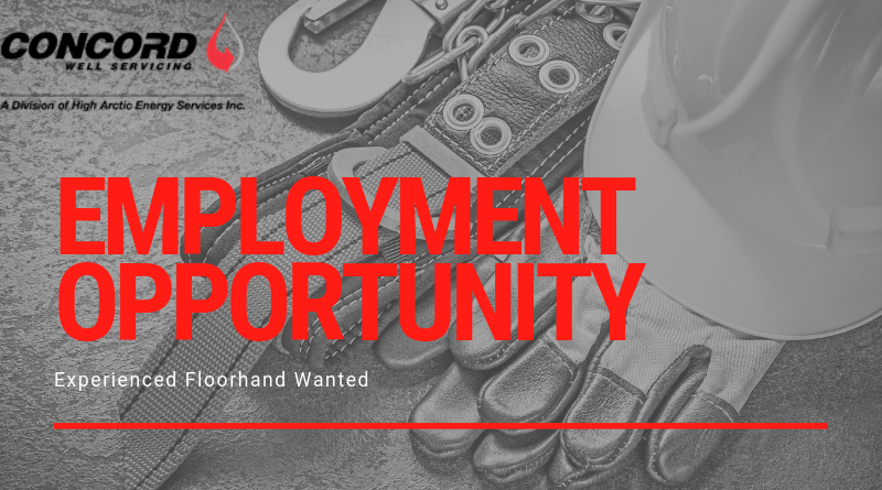 Employment Opportunity: Concord Well Servicing.