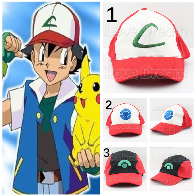 Aliexpress.com : Buy Pokemon GO Cosplay Cap POKEMON Ash Ketchum.