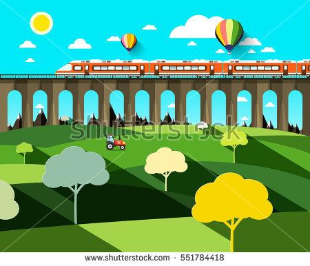 Mountain Train Stock Vectors, Images & Vector Art.