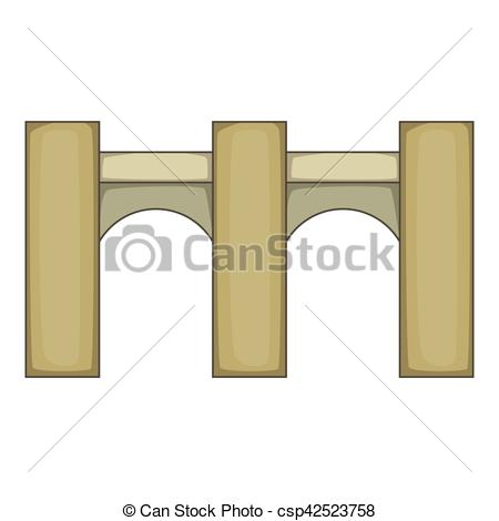 Clipart Vector of High bridge icon, cartoon style.