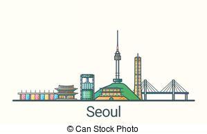Clip Art Vector of High bridge icon, flat style.