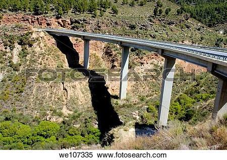 Stock Image of High bridge between Granada and the Alpujarras.