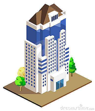 Building Isometric Stock Photos.
