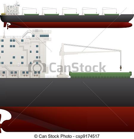 Vectors Illustration of Ocean Ship.