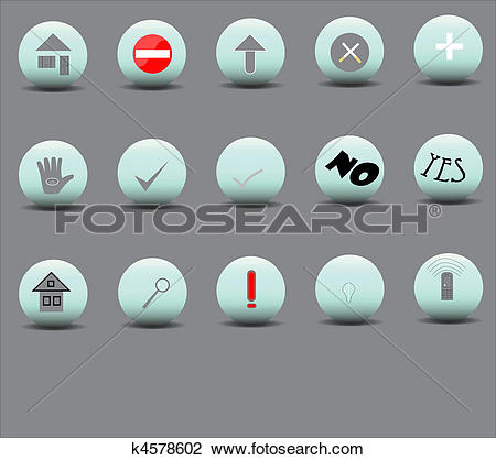 Clipart of Set of 15 icons of various bulk k4578602.