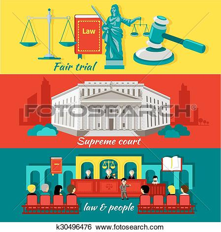 Clip Art of Concept High Court and Justice k30496476.