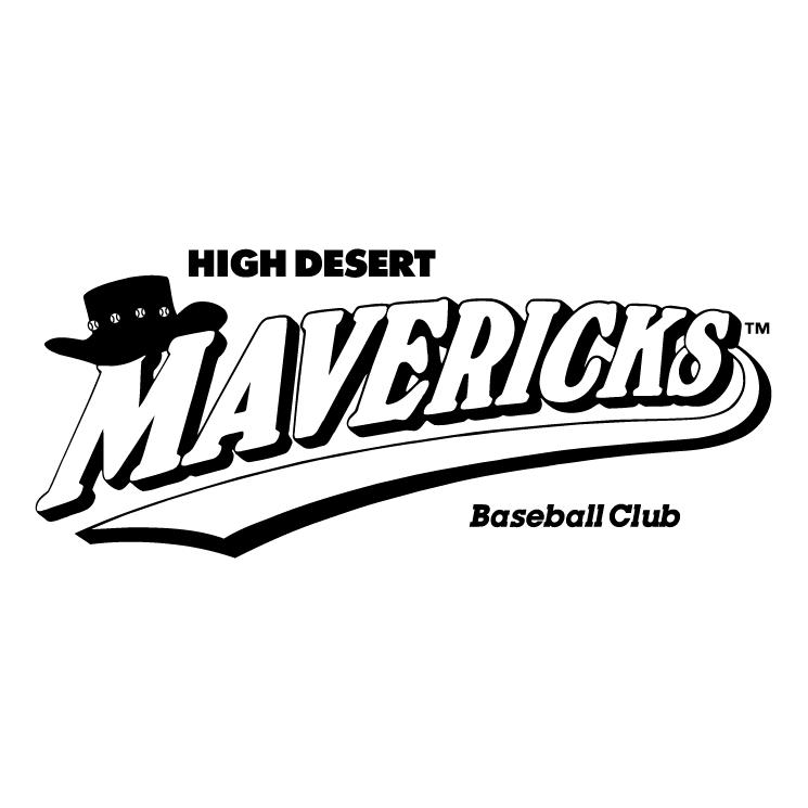 Mavericks logo clipart black on white.