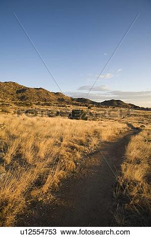 Stock Photo of Path in high desert foothills u12554753.