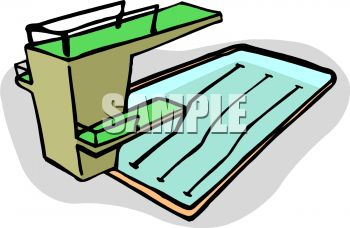 Royalty Free Clip Art Image: Competition Size Pool with a High Dive.